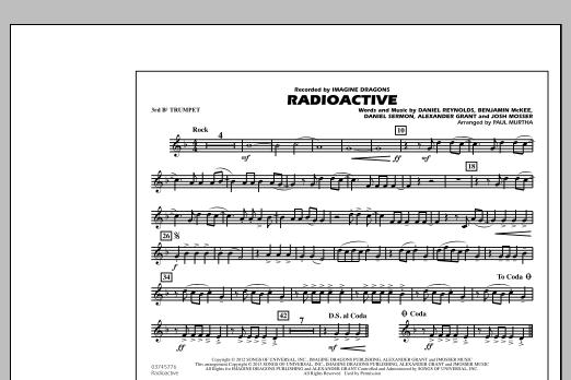 Paul Murtha Radioactive - 3rd Bb Trumpet sheet music notes and chords