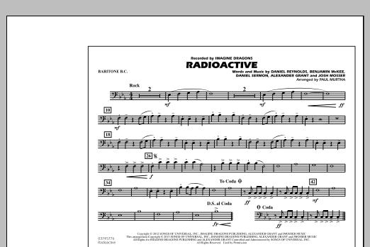 Paul Murtha Radioactive - Baritone B.C. sheet music notes and chords