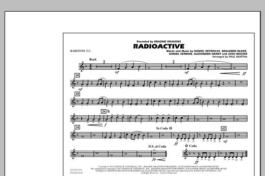 Paul Murtha Radioactive - Baritone T.C. sheet music notes and chords