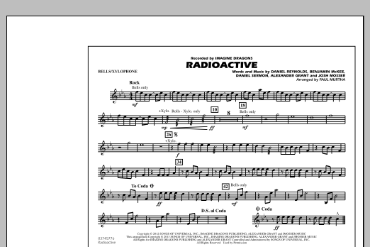 Paul Murtha Radioactive - Bells/Xylophone sheet music notes and chords