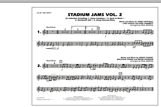 Paul Murtha Stadium Jams - Vol. 2 - 3rd Bb Trumpet sheet music preview music notes and score for Marching Band including 1 page(s)