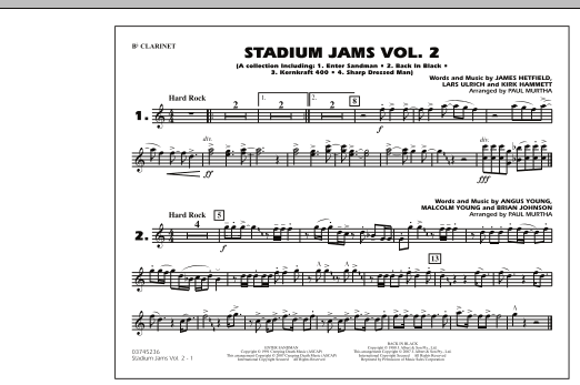 Paul Murtha Stadium Jams - Vol. 2 - Bb Clarinet sheet music preview music notes and score for Marching Band including 1 page(s)