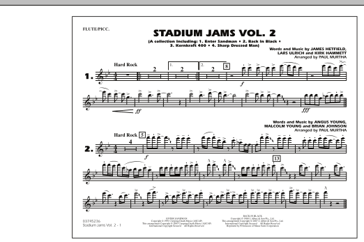 Paul Murtha Stadium Jams - Vol. 2 - Flute/Piccolo sheet music preview music notes and score for Marching Band including 1 page(s)