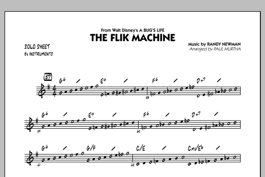 Paul Murtha The Flik Machine (from A Bug's Life) - Bb Solo Sheet sheet music notes and chords