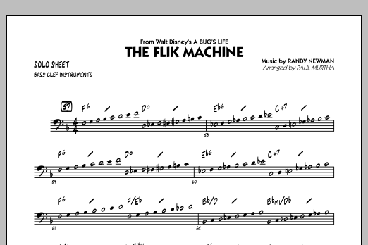 Paul Murtha The Flik Machine (from A Bug's Life) - C Bass Clef Solo sheet music notes and chords