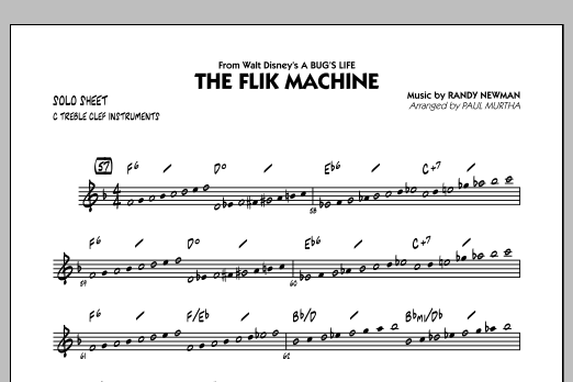 Paul Murtha The Flik Machine (from A Bug's Life) - C Solo Sheet sheet music notes and chords