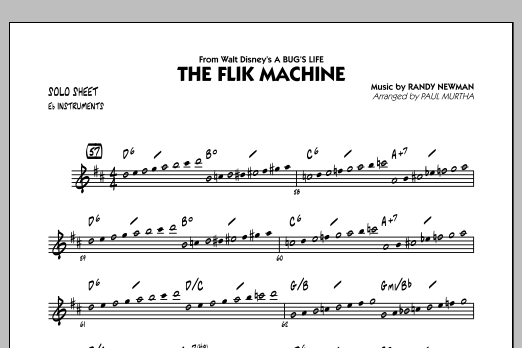 Paul Murtha The Flik Machine (from A Bug's Life) - Eb Solo Sheet sheet music notes and chords