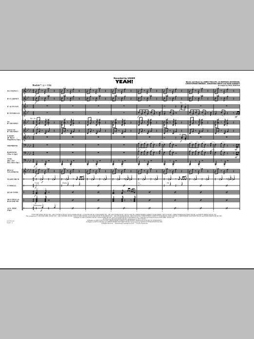 Download Paul Murtha 'Yeah! - Full Score' Digital Sheet Music Notes & Chords and start playing in minutes
