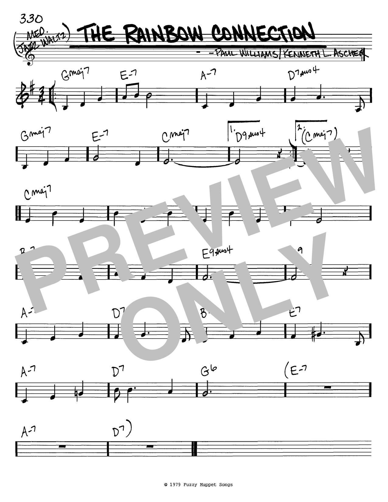Download Kermit The Frog 'The Rainbow Connection' Digital Sheet Music Notes & Chords and start playing in minutes