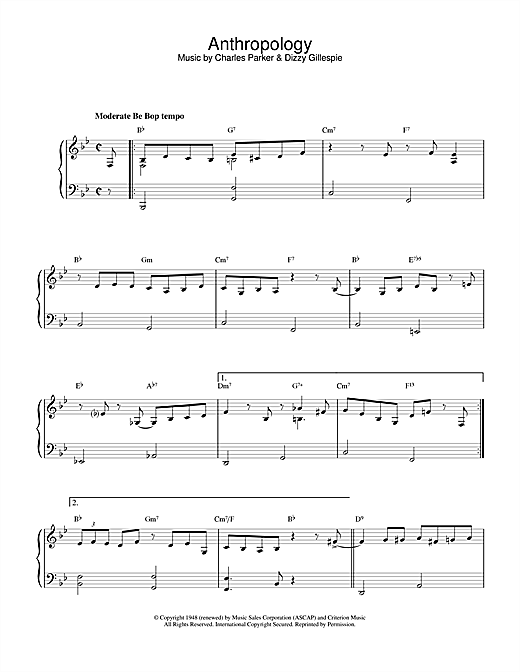 Download Paulo Sergio Valle 'Anthropology' Digital Sheet Music Notes & Chords and start playing in minutes
