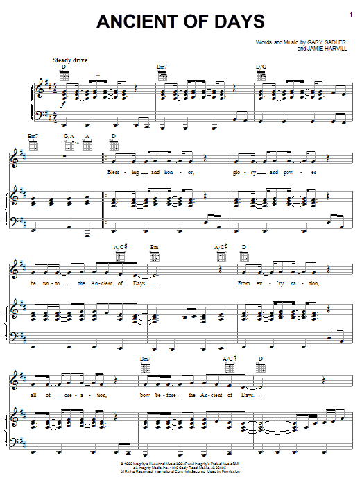 Download Petra 'Ancient Of Days' Digital Sheet Music Notes & Chords and start playing in minutes