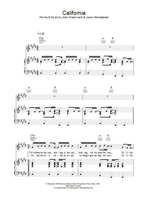 Phantom Planet California (theme from The OC) sheet music preview music notes and score for Guitar Tab including 9 page(s)