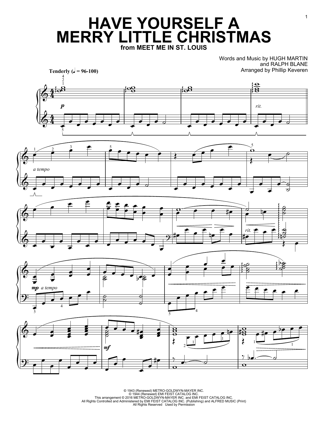 Download Phillip Keveren 'Have Yourself A Merry Little Christmas' Digital Sheet Music Notes & Chords and start playing in minutes