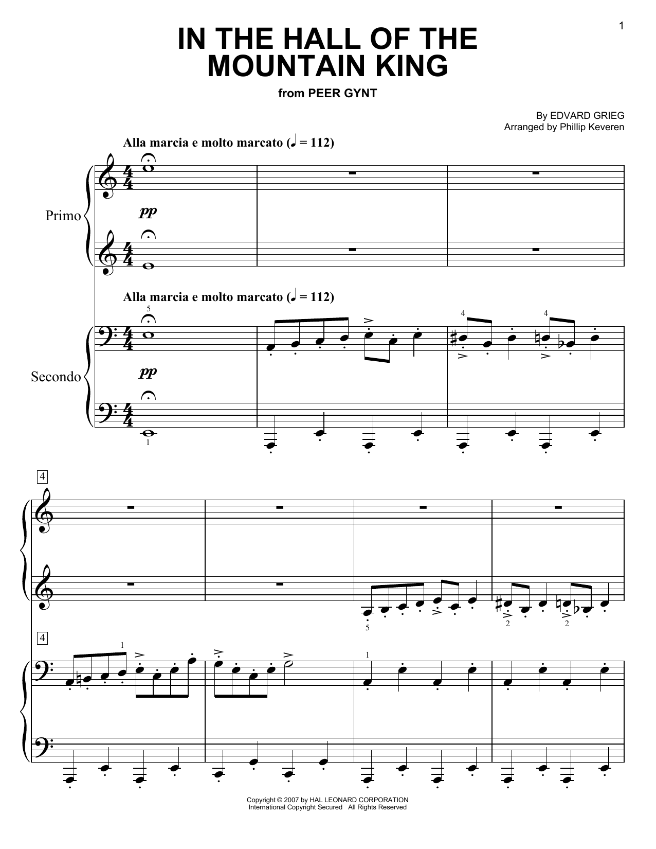Download Phillip Keveren 'In The Hall Of The Mountain King' Digital Sheet Music Notes & Chords and start playing in minutes
