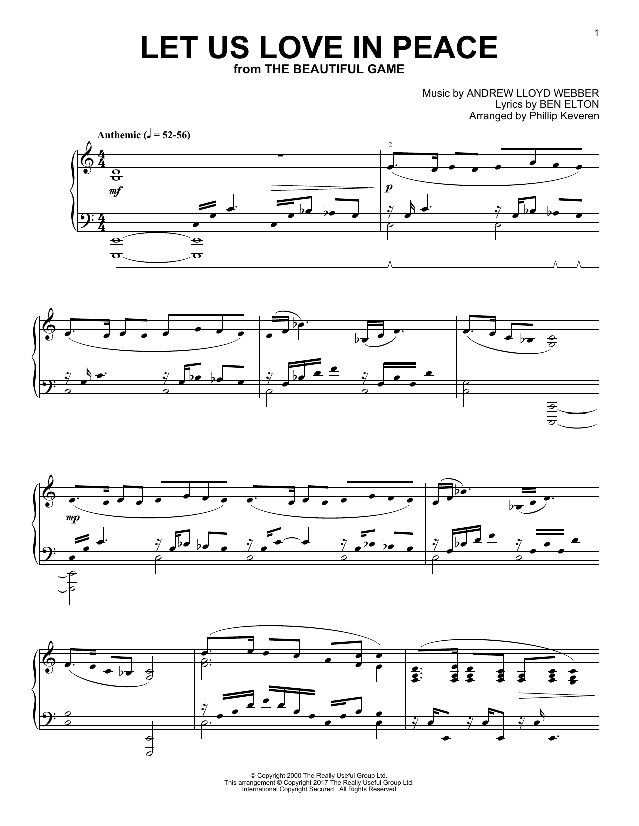 Download Phillip Keveren 'Let Us Love In Peace' Digital Sheet Music Notes & Chords and start playing in minutes