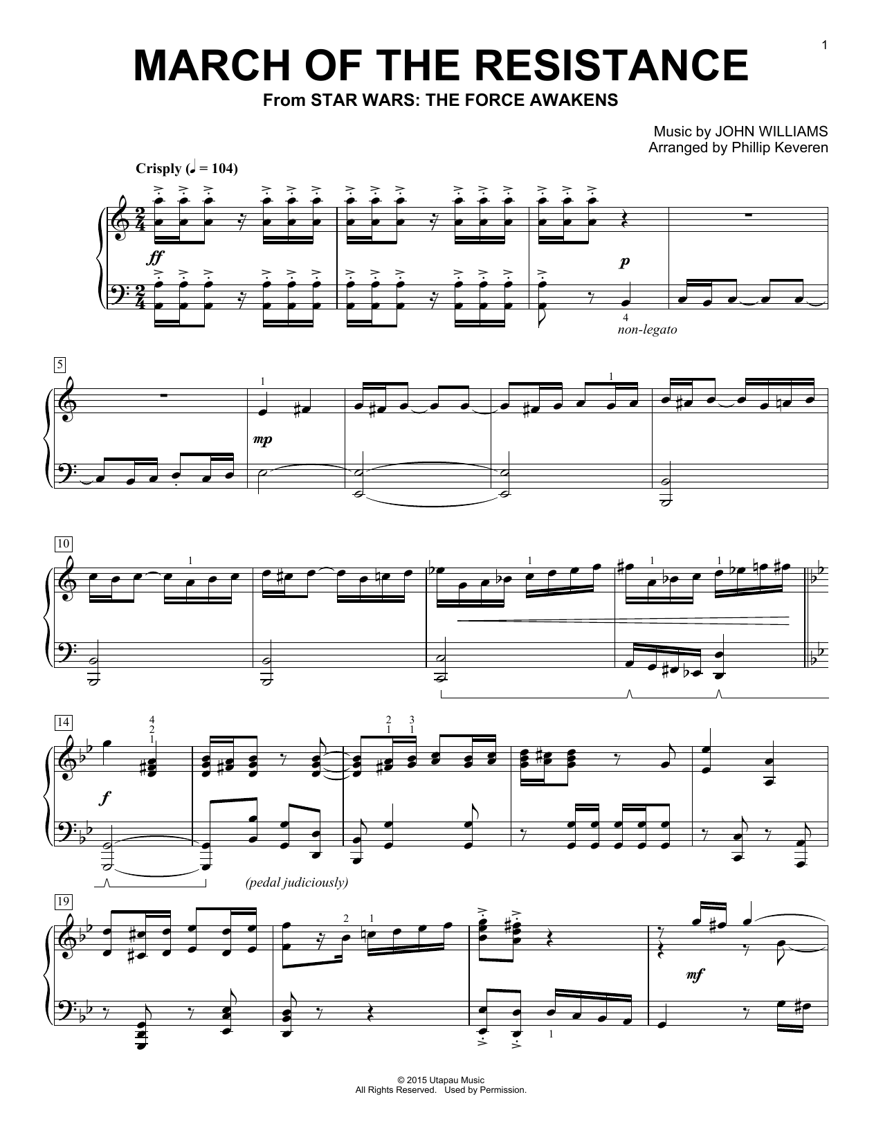 Download Phillip Keveren 'March Of The Resistance' Digital Sheet Music Notes & Chords and start playing in minutes
