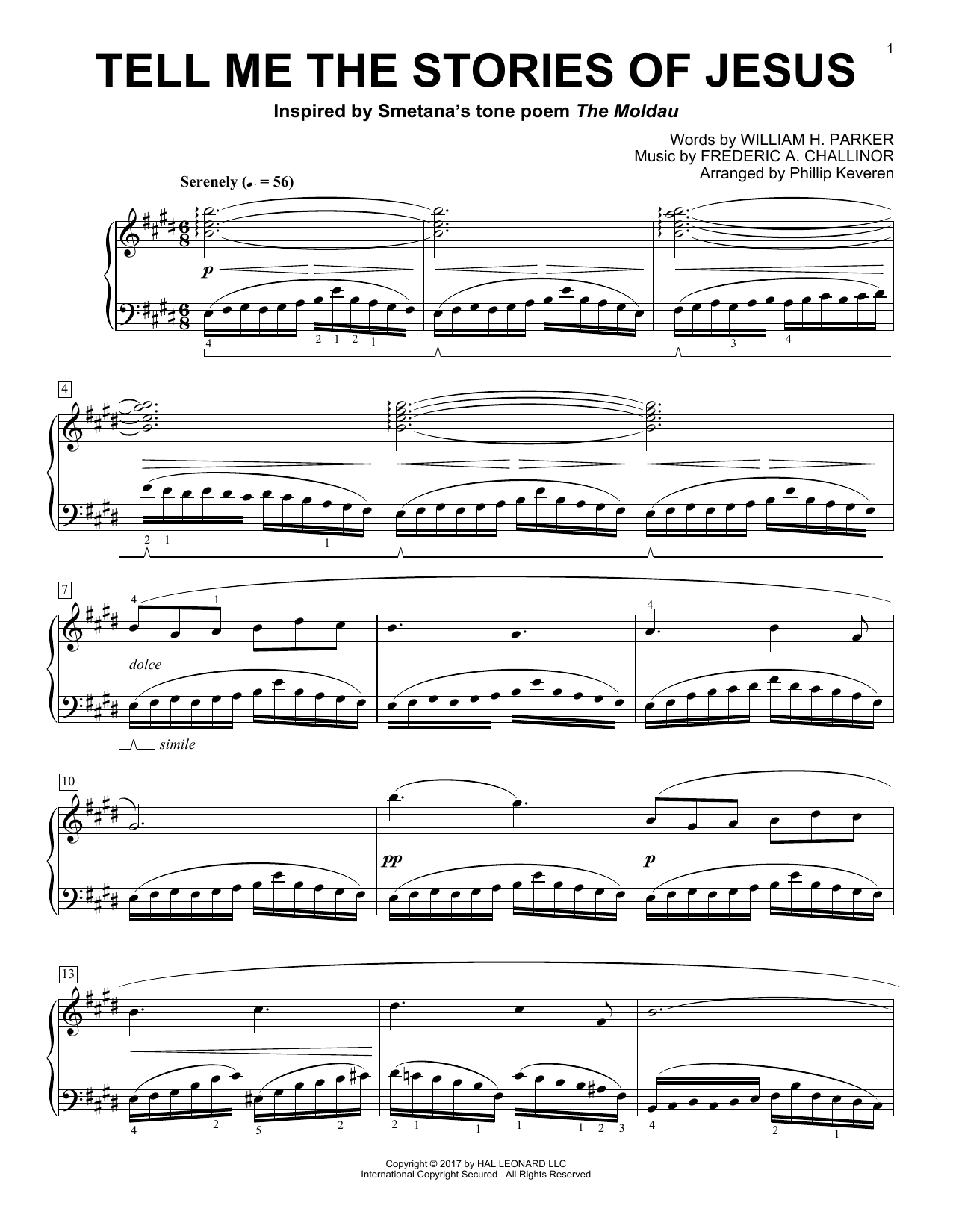 Download Phillip Keveren 'Tell Me The Stories Of Jesus' Digital Sheet Music Notes & Chords and start playing in minutes