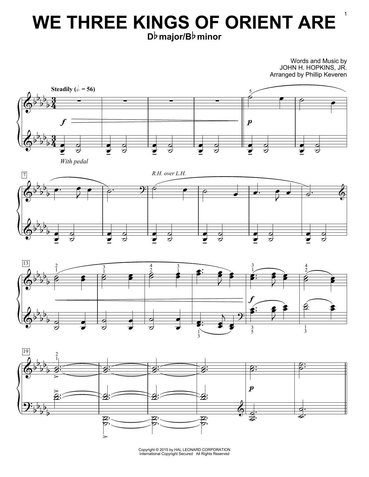Download Christmas Carol 'We Three Kings Of Orient Are' Digital Sheet Music Notes & Chords and start playing in minutes