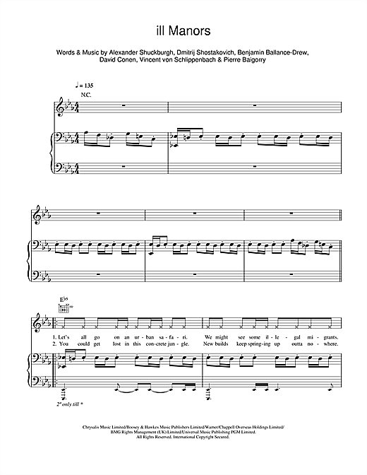 Download Plan B 'ill Manors' Digital Sheet Music Notes & Chords and start playing in minutes