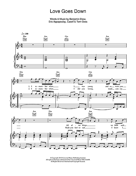 Download Plan B 'Love Goes Down' Digital Sheet Music Notes & Chords and start playing in minutes