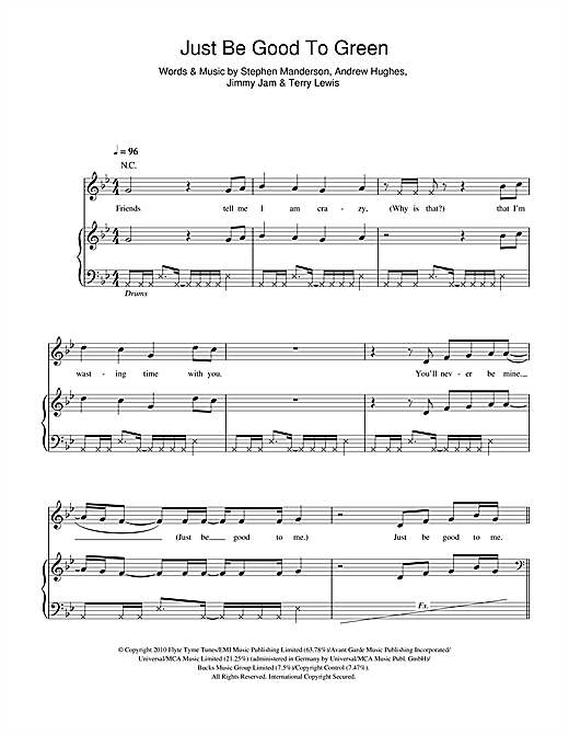 Download Professor Green 'Just Be Good To Green (feat. Lily Allen)' Digital Sheet Music Notes & Chords and start playing in minutes