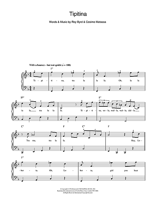 Professor Longhair Tipitina sheet music preview music notes and score for Beginner Piano including 2 page(s)