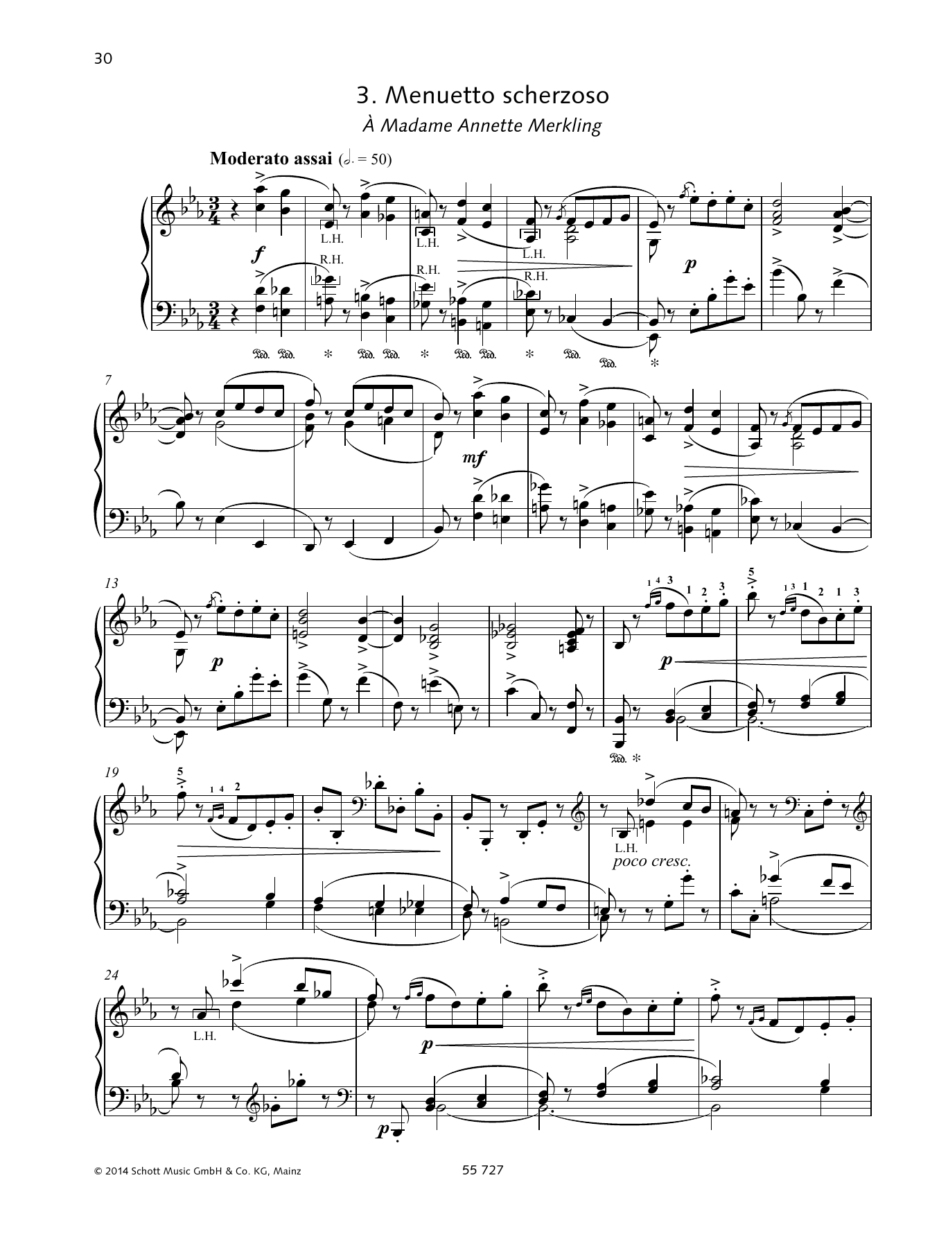 Pyotr Il'yich Tchaikovsky Menuetto scherzoso sheet music preview music notes and score for Piano Solo including 8 page(s)