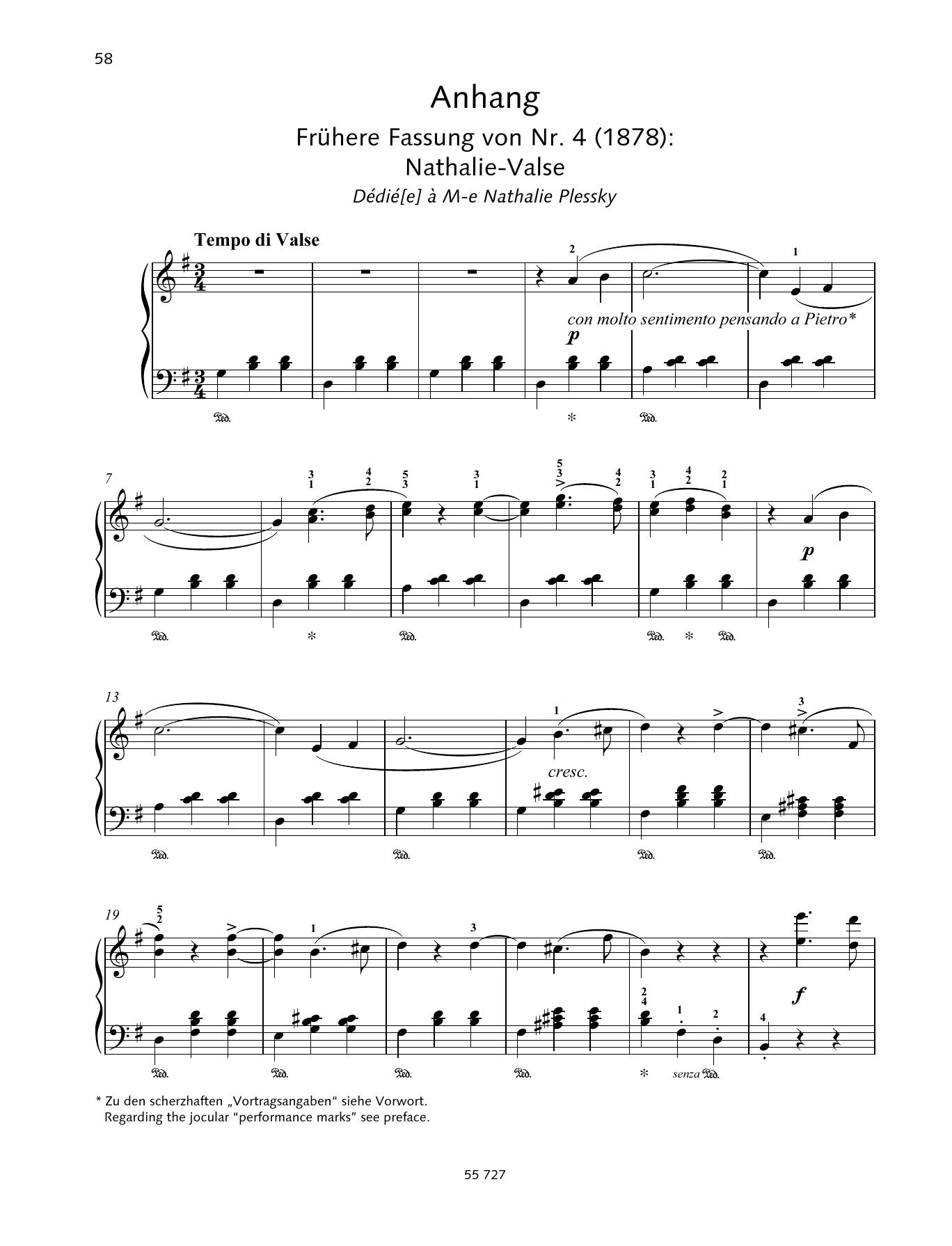 Pyotr Il'yich Tchaikovsky Natha-Valse sheet music preview music notes and score for Piano Solo including 7 page(s)