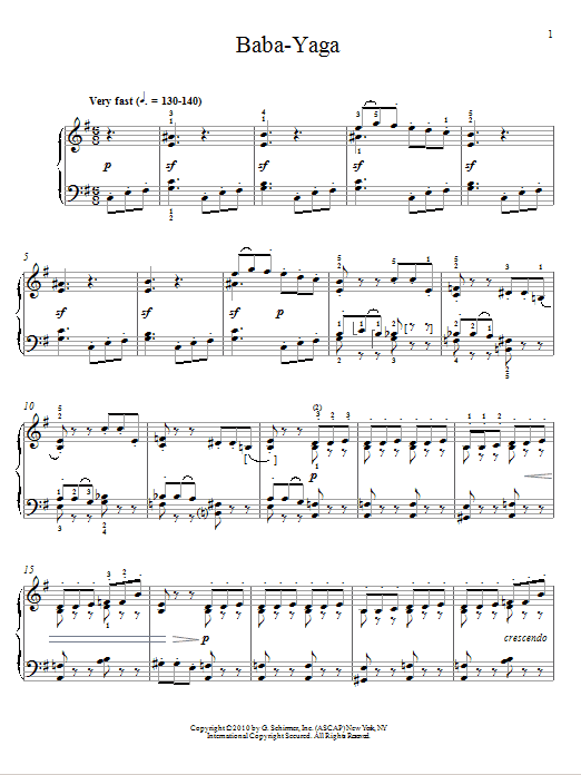 Download Pyotr Ilyich Tchaikovsky 'Baba-Yaga' Digital Sheet Music Notes & Chords and start playing in minutes