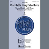 Download Queen Crazy Little Thing Called Love (arr. Chris Peterson) Sheet Music arranged for TTBB Choir - printable PDF music score including 7 page(s)