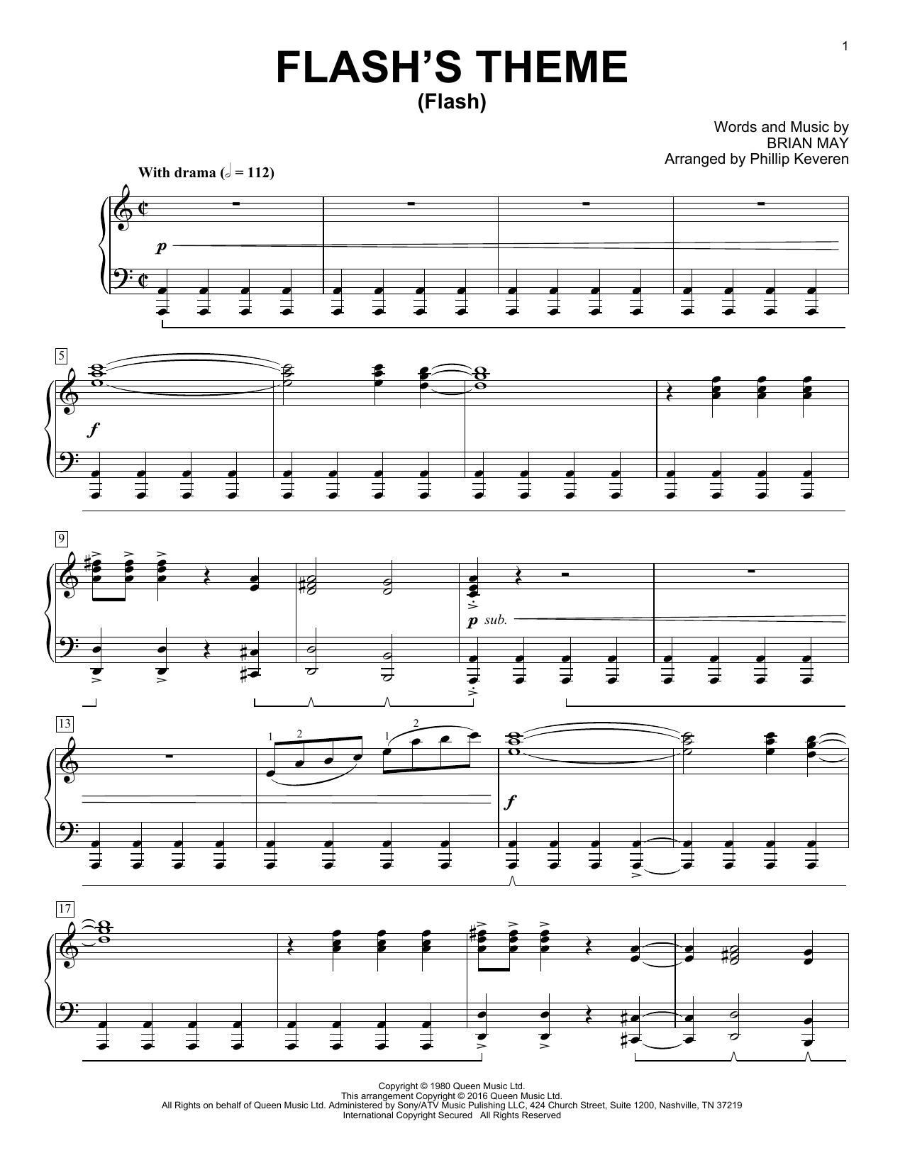 Download Queen 'Flash's Theme (Flash)' Digital Sheet Music Notes & Chords and start playing in minutes