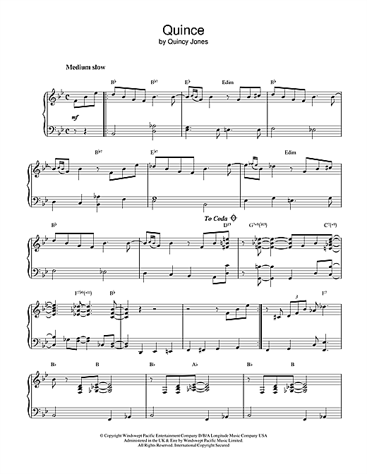 Download Quincy Jones 'Quince' Digital Sheet Music Notes & Chords and start playing in minutes