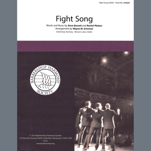Rachel Platten Fight Song (arr. Wayne Grimmer) profile picture