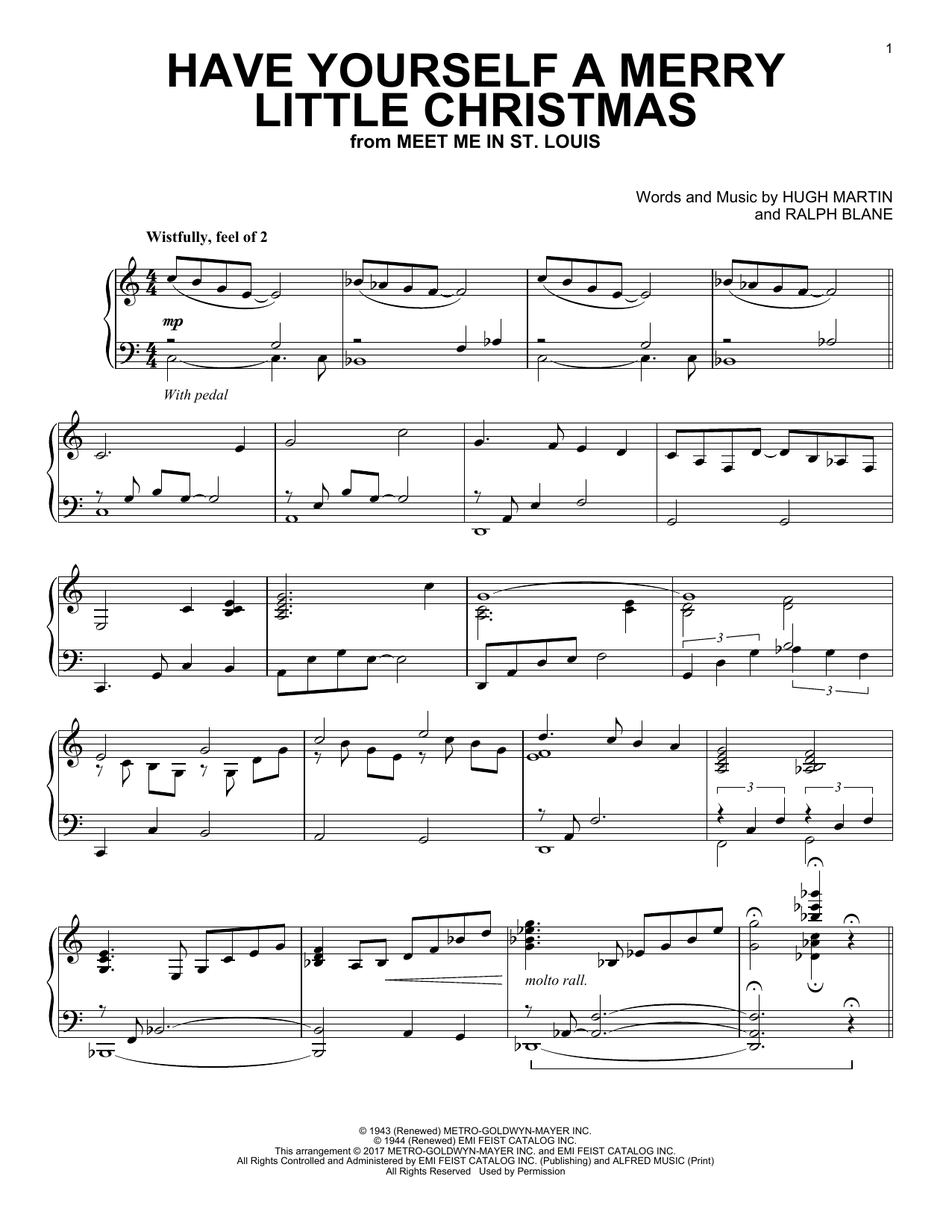 Download Ralph Blane 'Have Yourself A Merry Little Christmas' Digital Sheet Music Notes & Chords and start playing in minutes