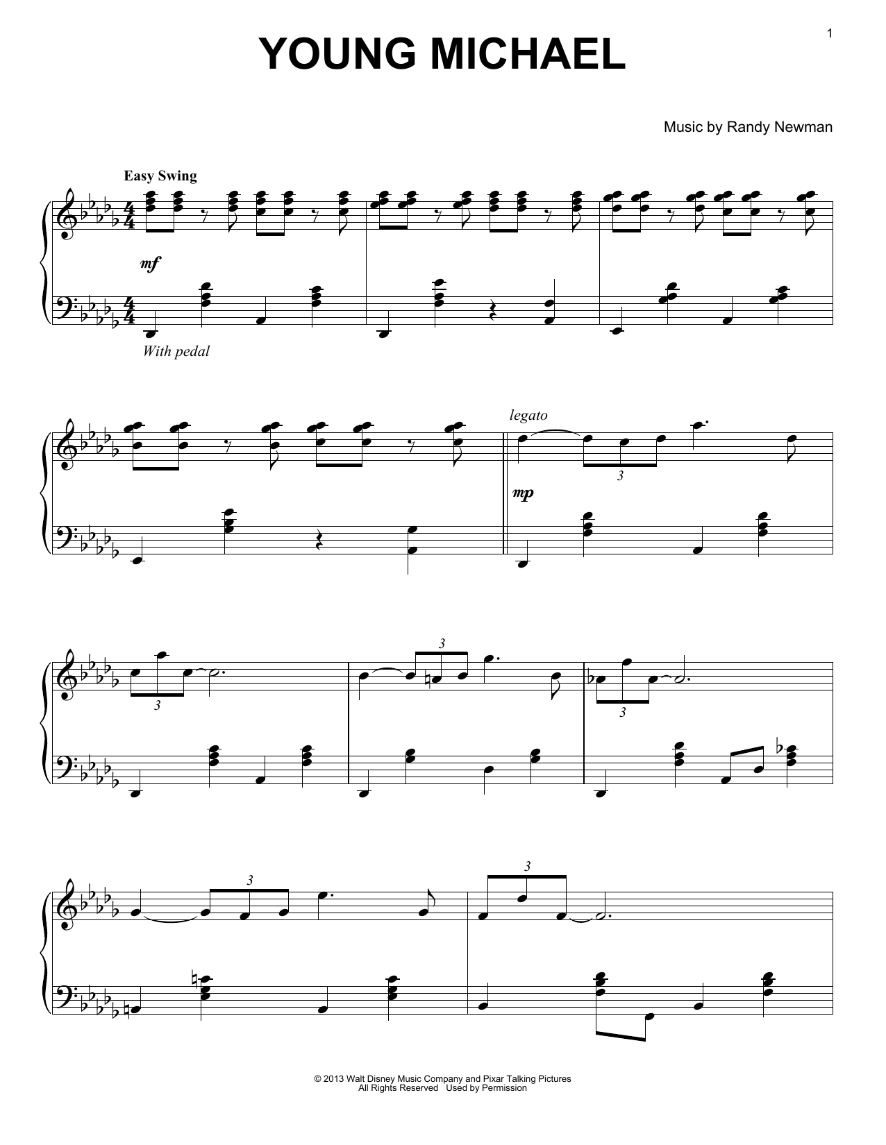 Download Randy Newman 'Young Michael' Digital Sheet Music Notes & Chords and start playing in minutes