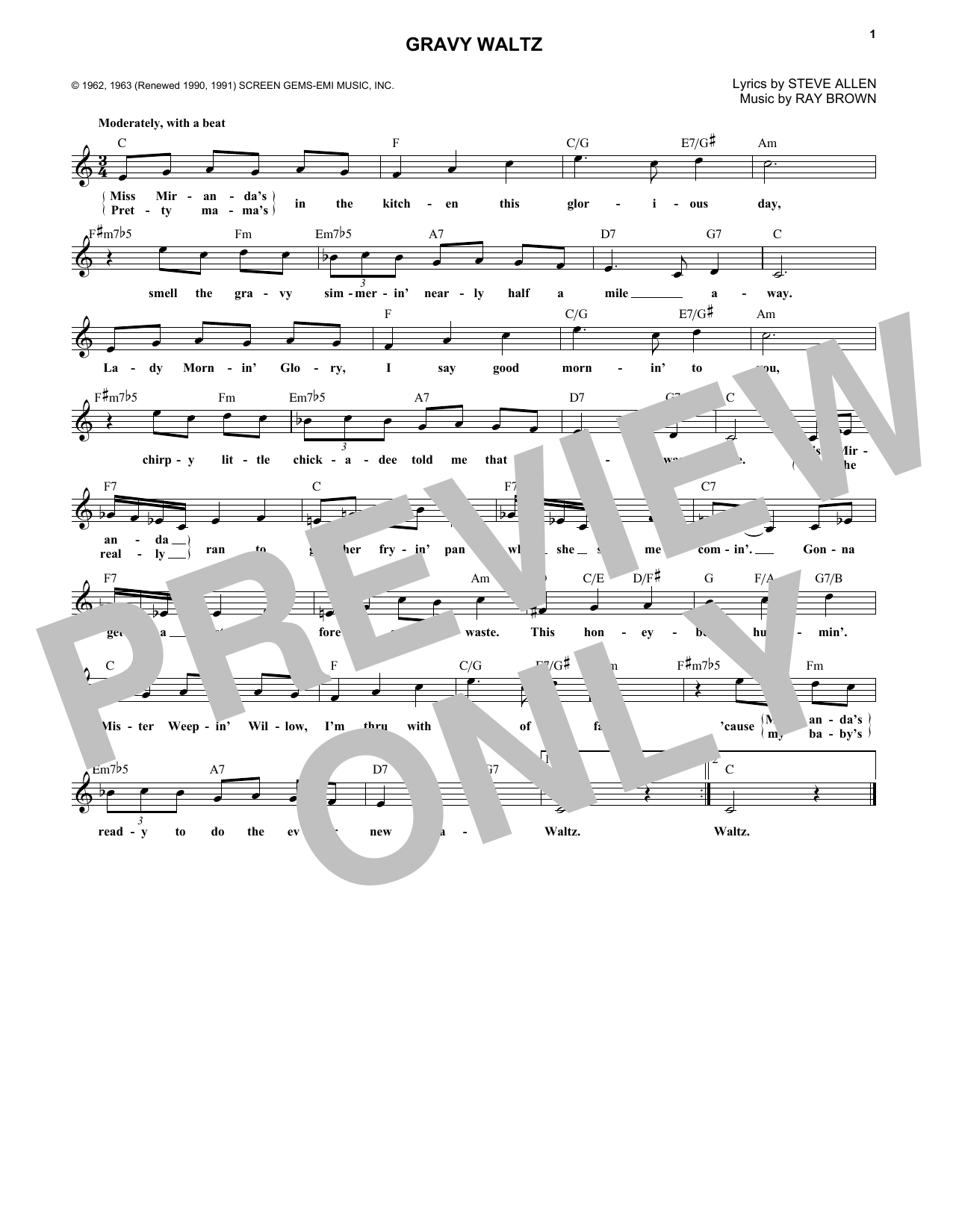 Download Ray Brown 'Gravy Waltz' Digital Sheet Music Notes & Chords and start playing in minutes