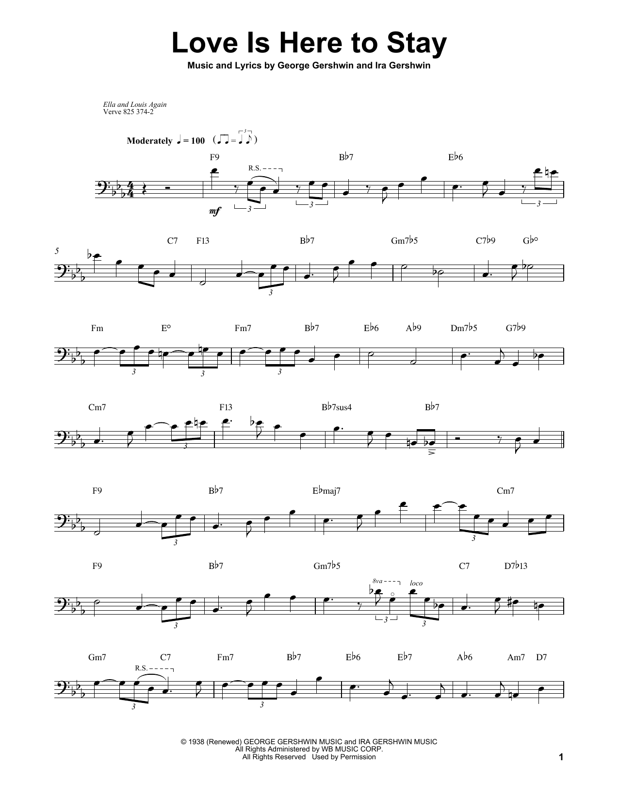 Download Ray Brown 'Love Is Here To Stay' Digital Sheet Music Notes & Chords and start playing in minutes