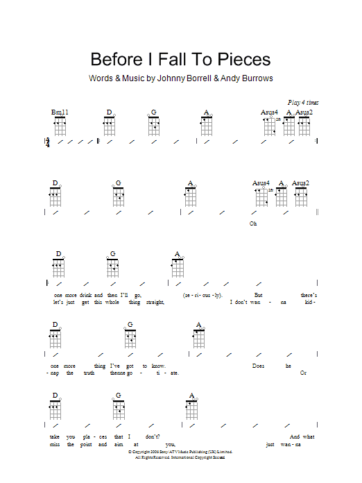 Razorlight Before I Fall To Pieces sheet music preview music notes and score for Piano, Vocal & Guitar including 8 page(s)