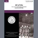 Download Realtime All Of Me (arr. Scott Kitzmiller) Sheet Music arranged for TTBB Choir - printable PDF music score including 5 page(s)