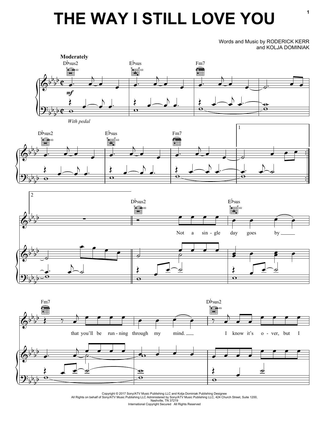 Reynard Silva The Way I Still Love You sheet music notes and chords