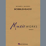 Download or print Bobbleheads! - Eb Baritone Saxophone Sheet Music Notes by Richard L. Saucedo for Concert Band
