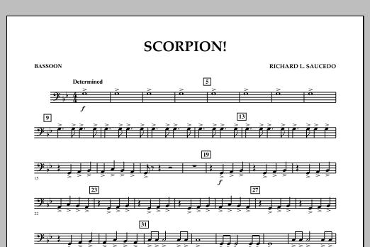 Richard L. Saucedo Scorpion! - Bassoon sheet music notes and chords