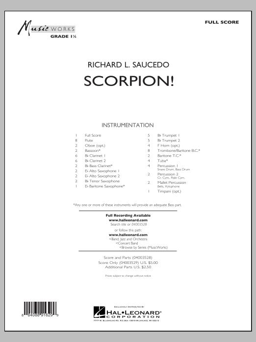 Richard L. Saucedo Scorpion! - Conductor Score (Full Score) sheet music notes and chords