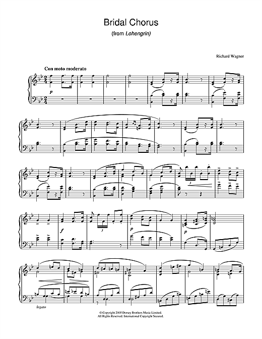 Download Richard Wagner 'Bridal Chorus (from Lohengrin)' Digital Sheet Music Notes & Chords and start playing in minutes