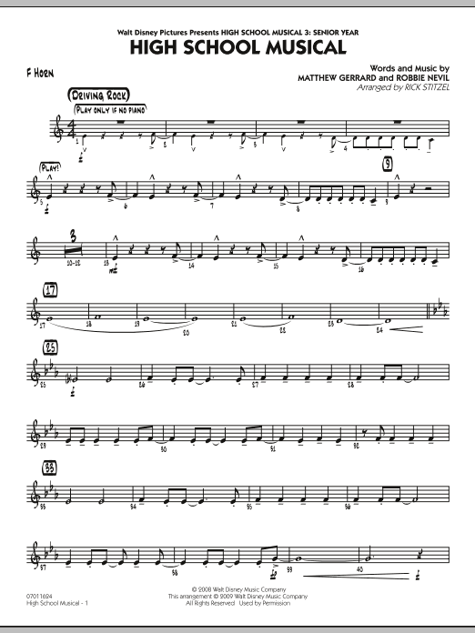 Download Rick Stitzel 'High School Musical (from