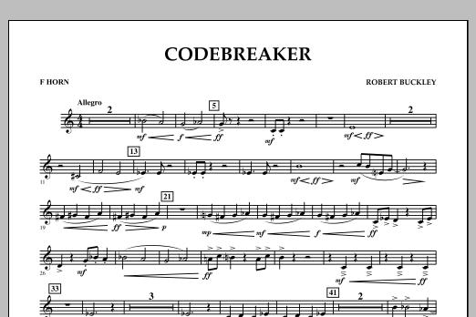 Robert Buckley Codebreaker - F Horn sheet music notes and chords