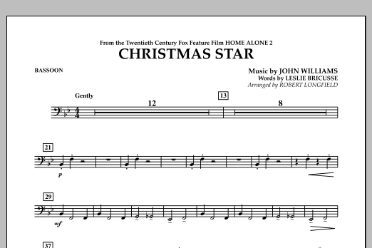 Robert Longfield Christmas Star (from Home Alone 2: Lost in New York) - Bassoon sheet music notes and chords