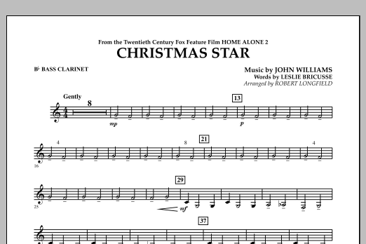 Robert Longfield Christmas Star (from Home Alone 2: Lost in New York) - Bb Bass Clarinet sheet music notes and chords