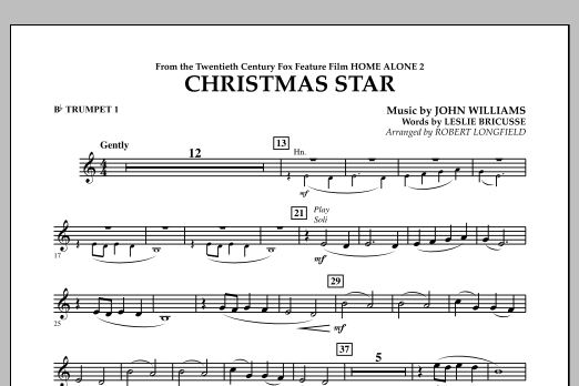 Robert Longfield Christmas Star (from Home Alone 2: Lost in New York) - Bb Trumpet 1 sheet music notes and chords