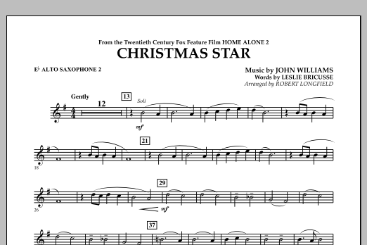 Robert Longfield Christmas Star (from Home Alone 2: Lost in New York) - Eb Alto Saxophone 2 sheet music notes and chords